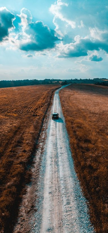 Road Car Field Wallpaper 720x1544 380x815
