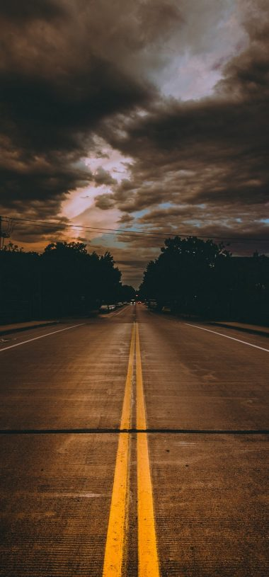 Road Marking Cloudy Wallpaper 720x1544 380x815