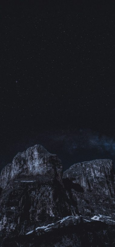 Rocks Night Stars Wallpaper 720x1544 380x815