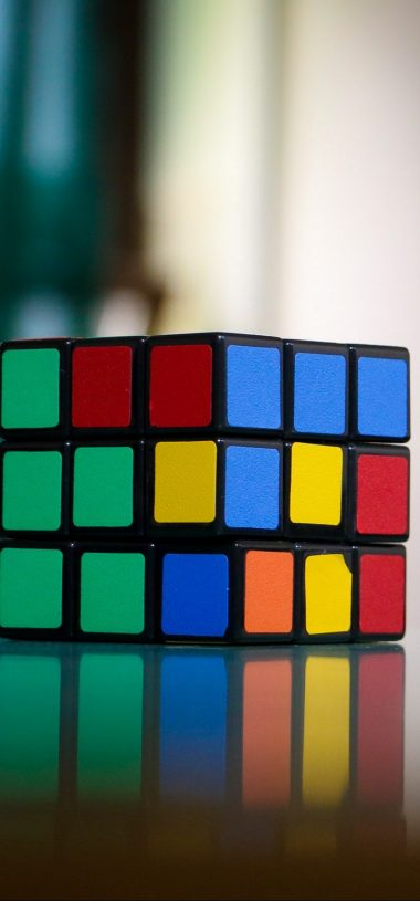 Rubiks Cube Puzzle Multi Colored Wallpaper 720x1544 380x815