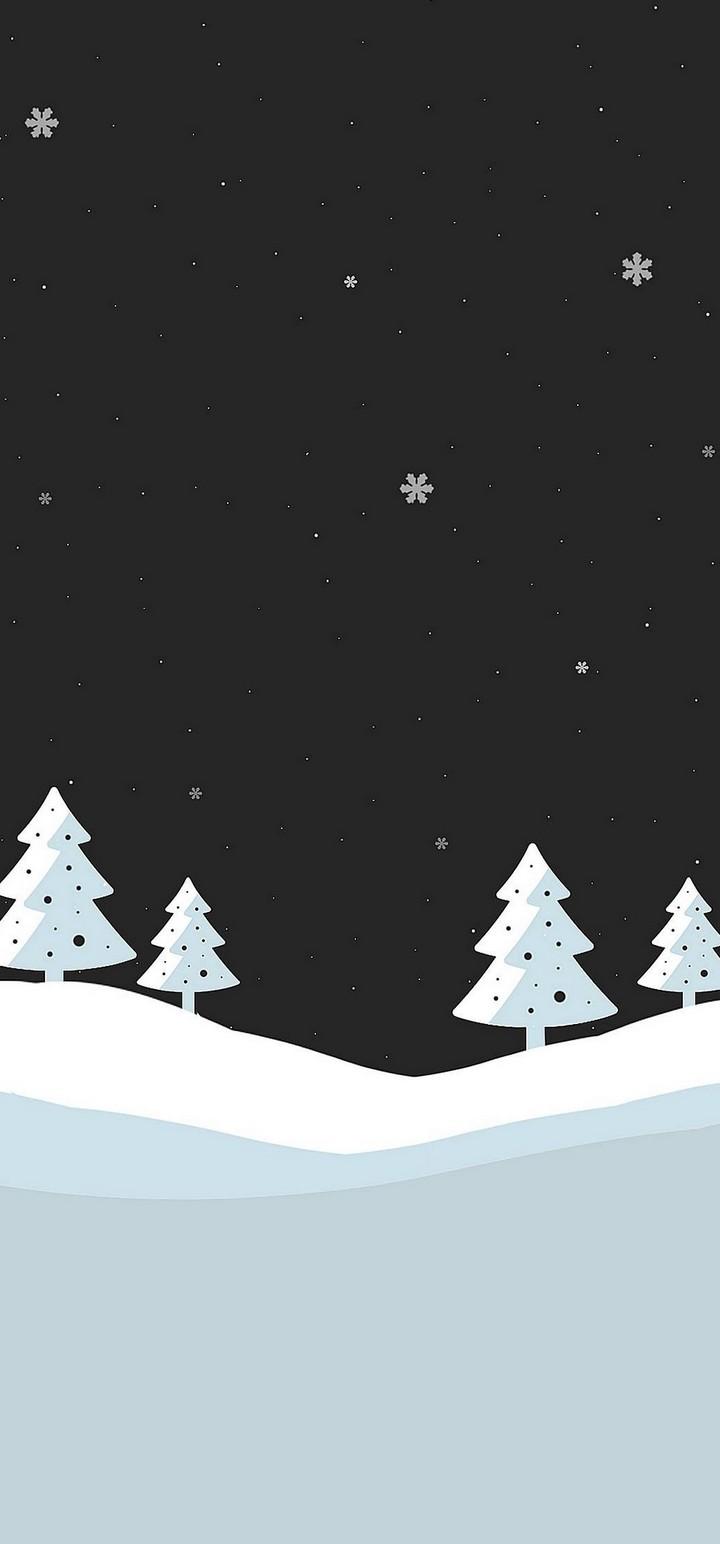 Snowfall Minimal Wallpaper 720x1544