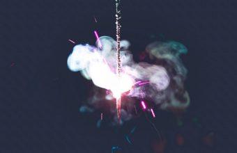 Sparkler Spark Smoke Wallpaper 720x1544 340x220