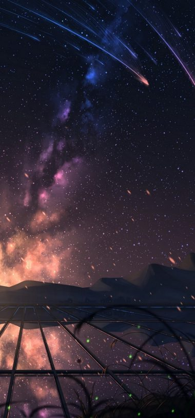 Starry Sky Stargazing Art Wallpaper 720x1544 380x815