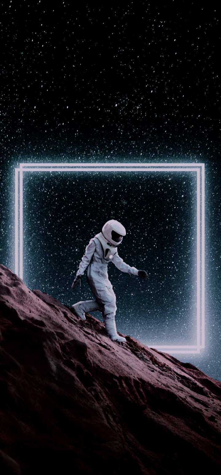 Step Down Space Wallpaper 720x1544