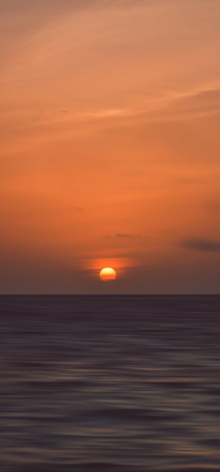 Sunset Horizon Sea Wallpaper 720x1544