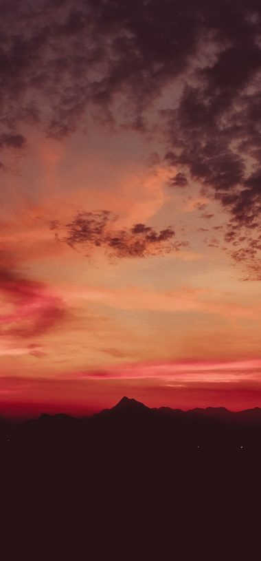 Sunset Mountains Clouds Sky Wallpaper 720x1544 380x815