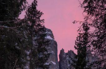 Twilight Snow Mountains Nature Wallpaper 720x1544 340x220