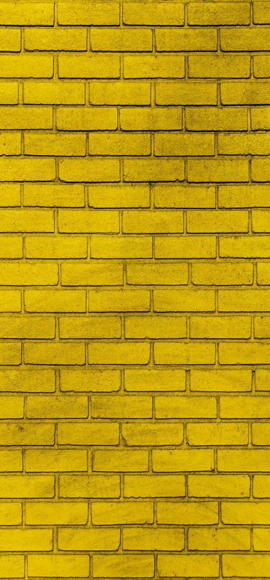 Wall Brick Yellow Wallpaper 720x1544 380x815