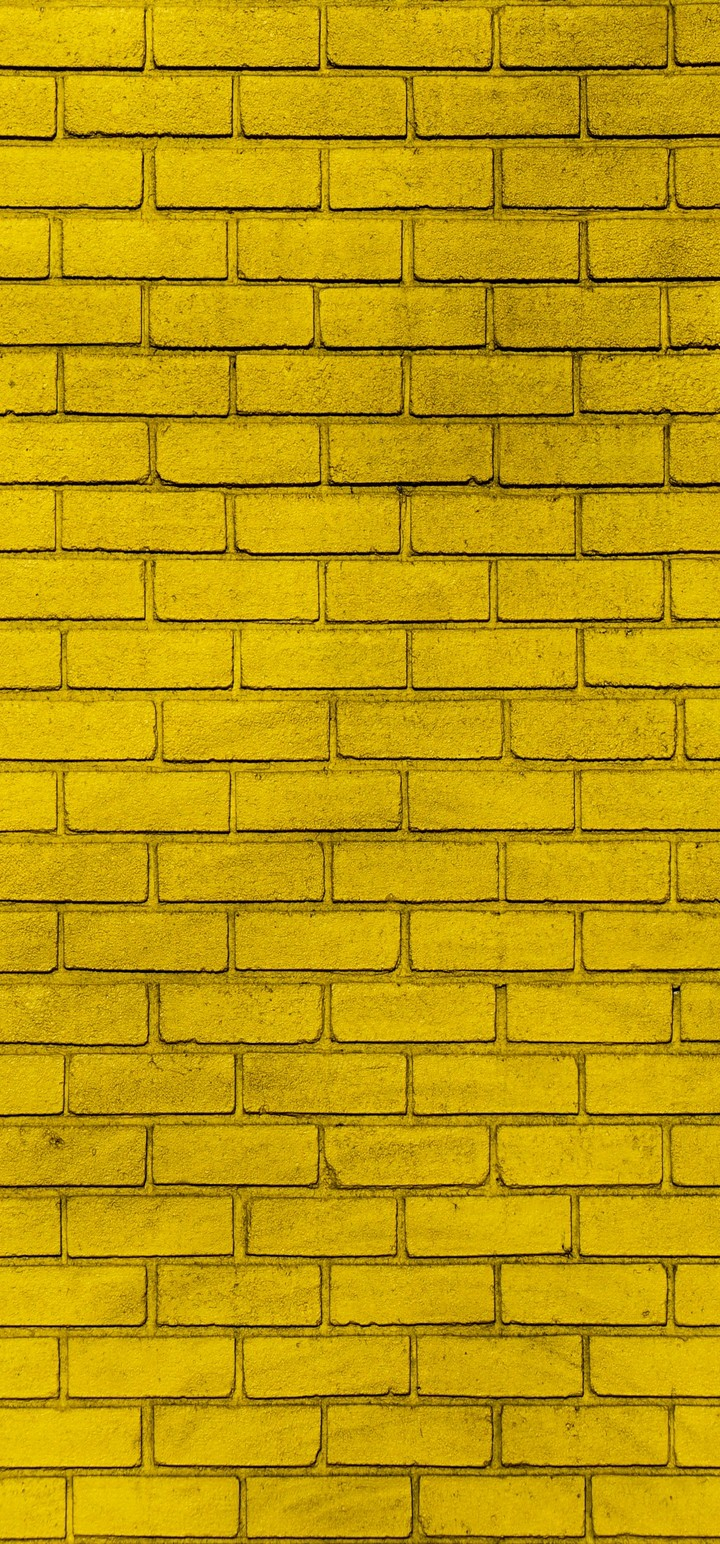 Wall Brick Yellow Wallpaper 720x1544