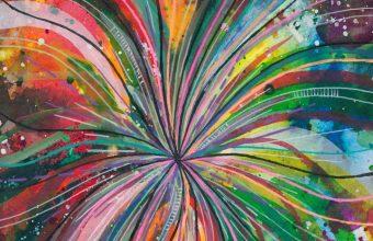 Watercolor Lines Multicolored Wallpaper 720x1544 340x220