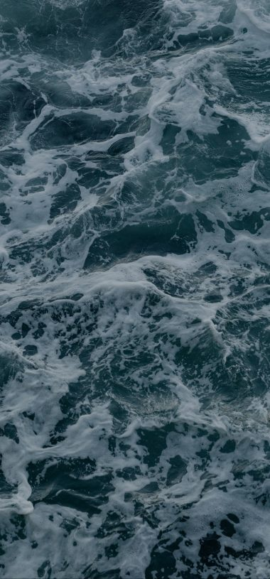 Waves Foam Surface Wallpaper 720x1544 380x815