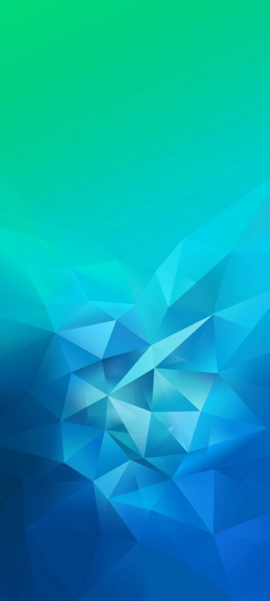3D Blue Green Blur Polygon Wallpaper 720x1600 380x844
