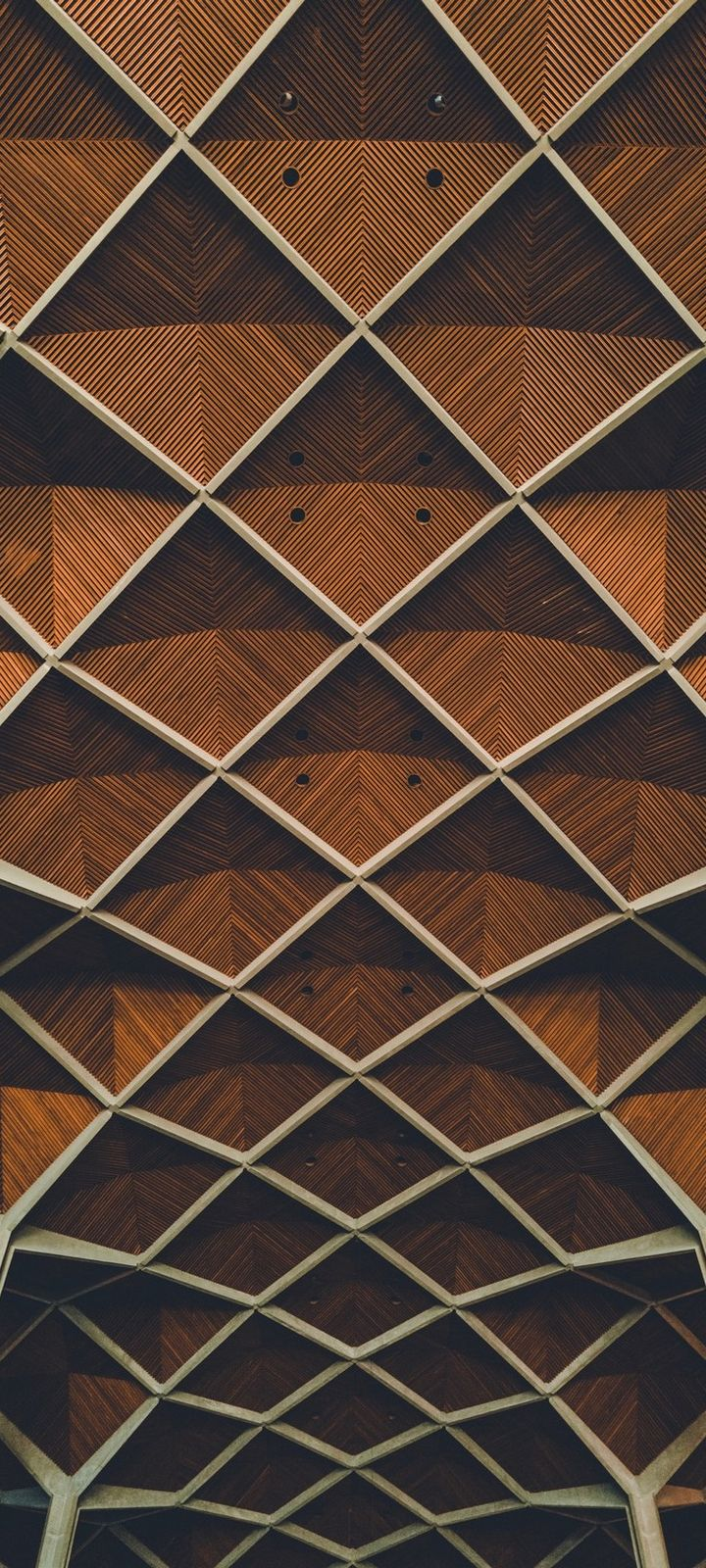 Architecture Interior Grid Wallpaper 720x1600