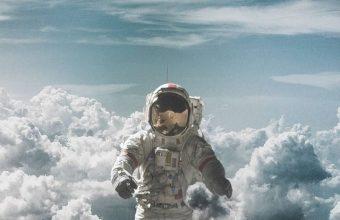 Astronaut Suit Space Clouds Wallpaper 720x1600 340x220