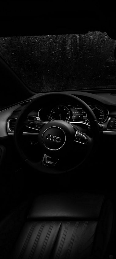 Audi Steering Wheel Wallpaper 720x1600 380x844