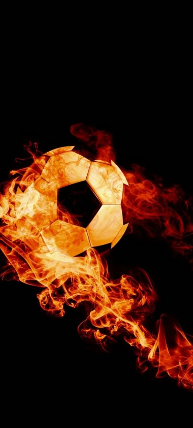Ball Fire Football Wallpaper 720x1600 380x844