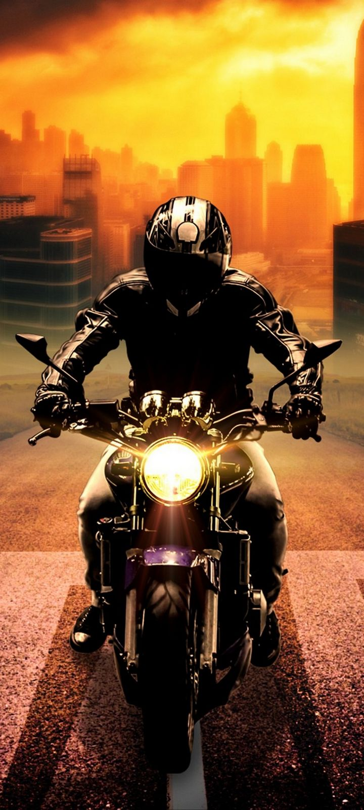 Biker Bike Motorcycle Wallpaper 720x1600