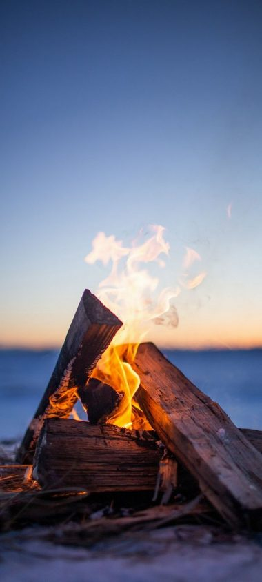 Bonfire Firewood Fire Wallpaper 720x1600 380x844