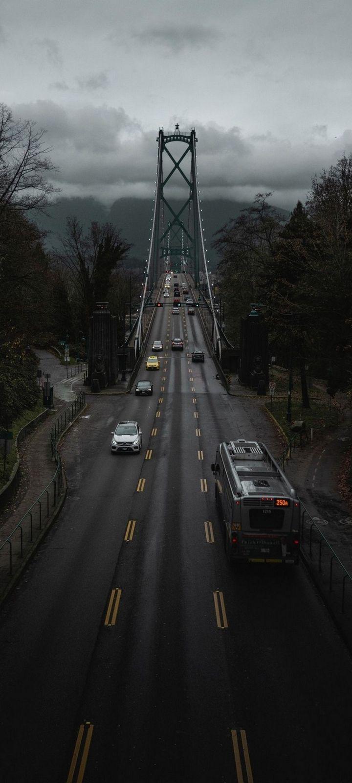 Canada Road Bridge Wallpaper 720x1600