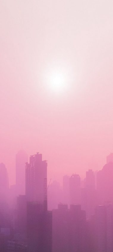 City Fog Sun Wallpaper 720x1600 380x844