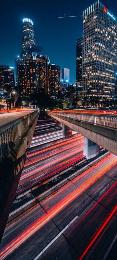 City Metropolis Los Angeles Wallpaper 720x1600 380x844