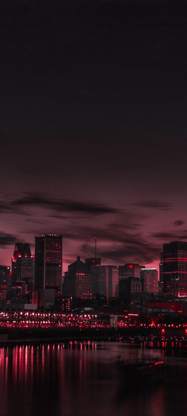 City Night Panorama Wallpaper 720x1600