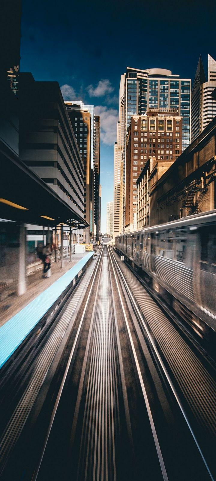 City Rails Railway Wallpaper 720x1600