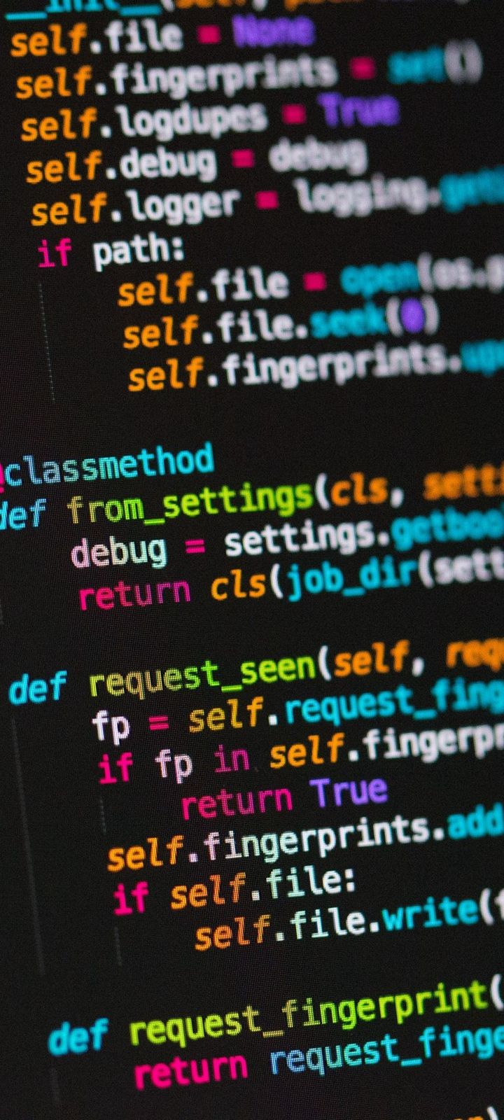 Code Programming Text Wallpaper 720x1600