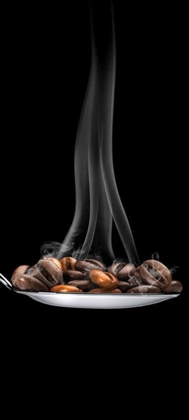 Coffee Beans Spoon Minimal Wallpaper 720x1600 380x844