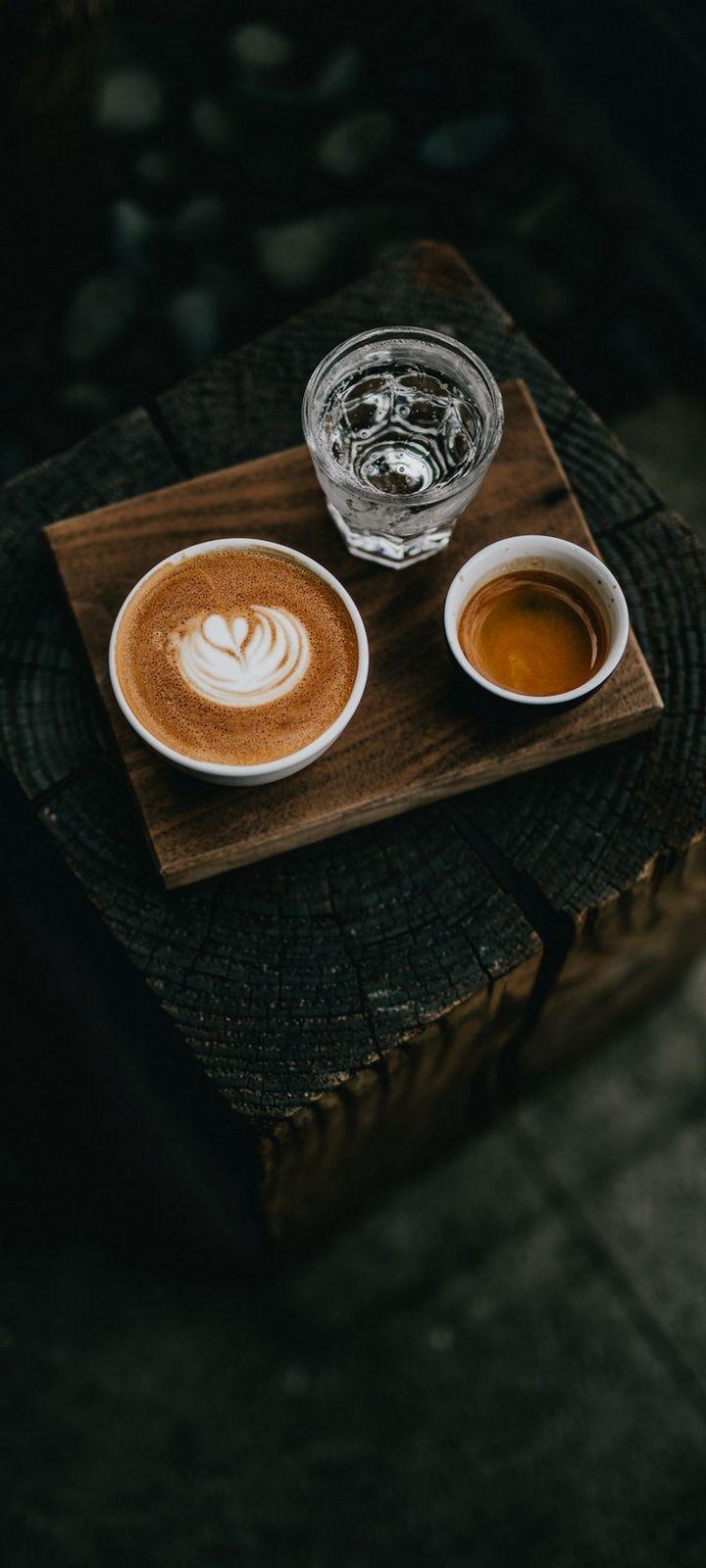 Coffee Water Cups Drinks Wallpaper 720x1600