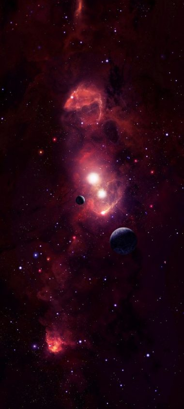 Cosmic Space Planets Wallpaper 720x1600 380x844