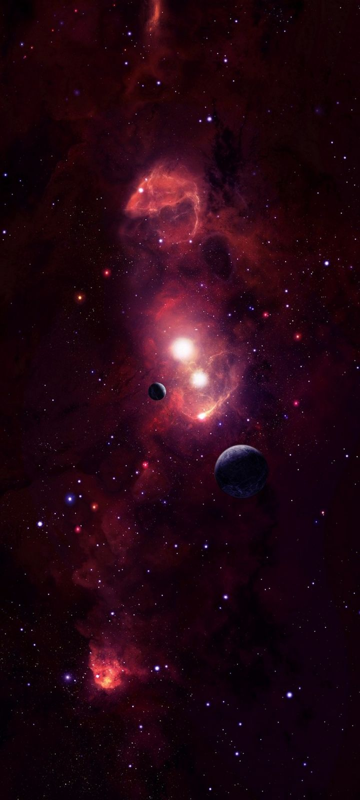 Cosmic Space Planets Wallpaper 720x1600