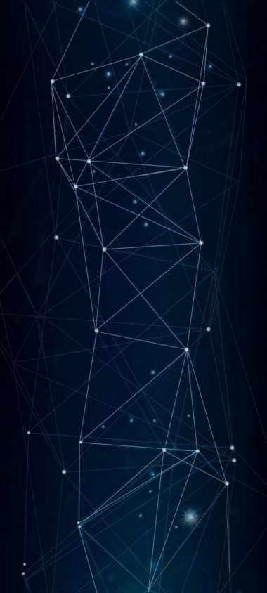 Dark Network Connection Wallpaper 720x1600 380x844