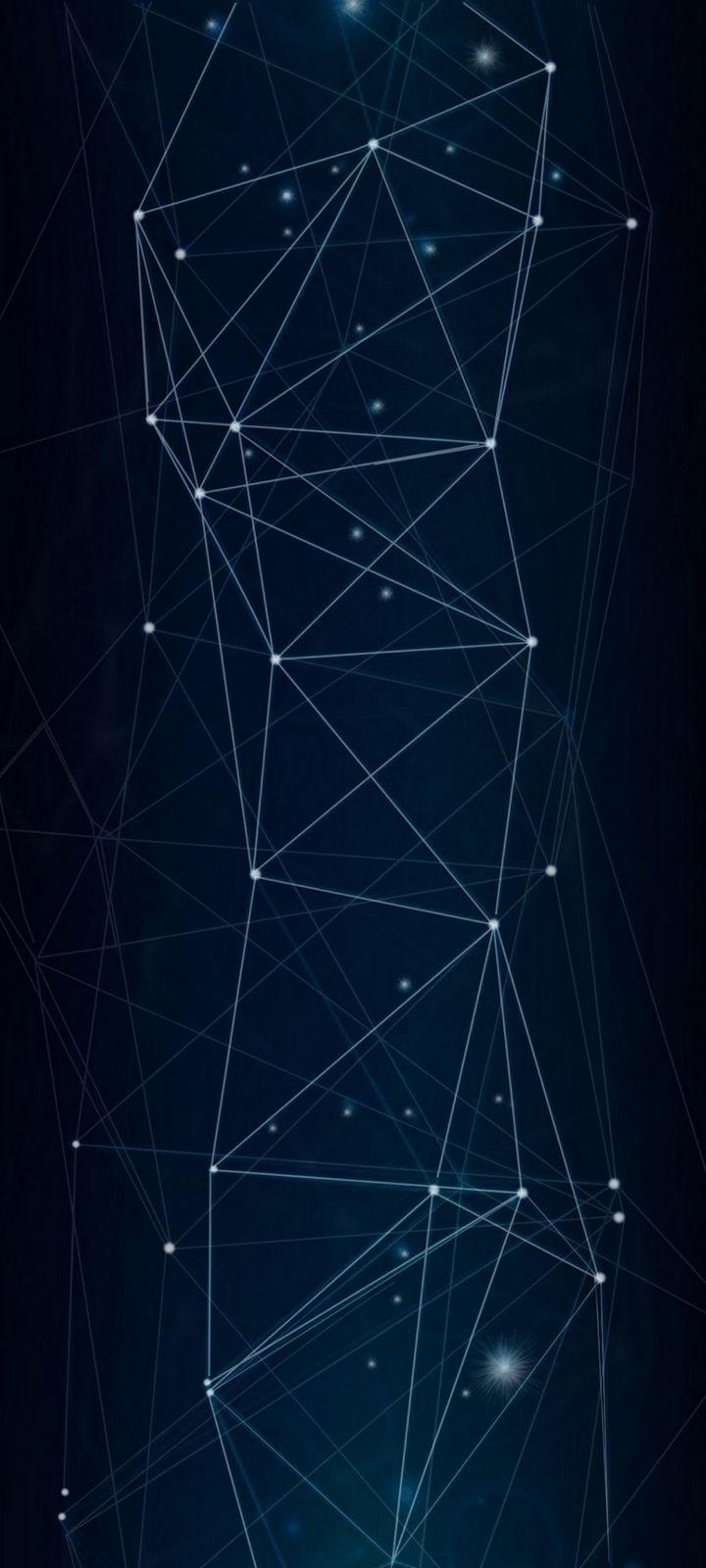 Dark Network Connection Wallpaper 720x1600