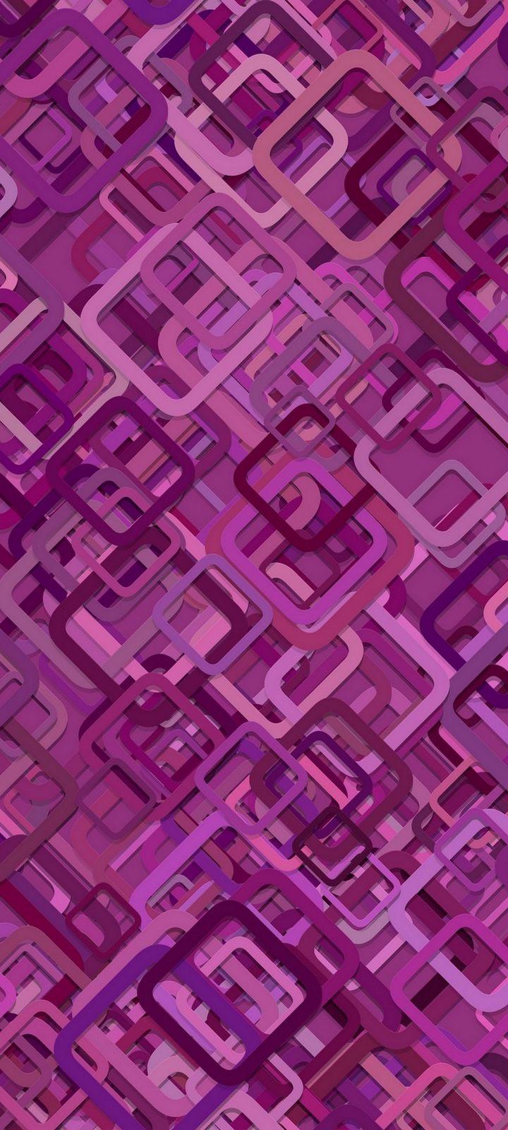 Diagonals Shapes Purple Wallpaper 720x1600