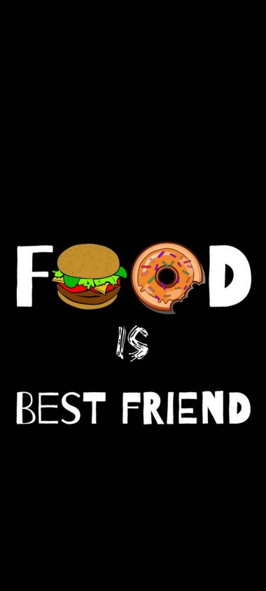 Food Love Real Love Funny Wallpaper 720x1600 380x844
