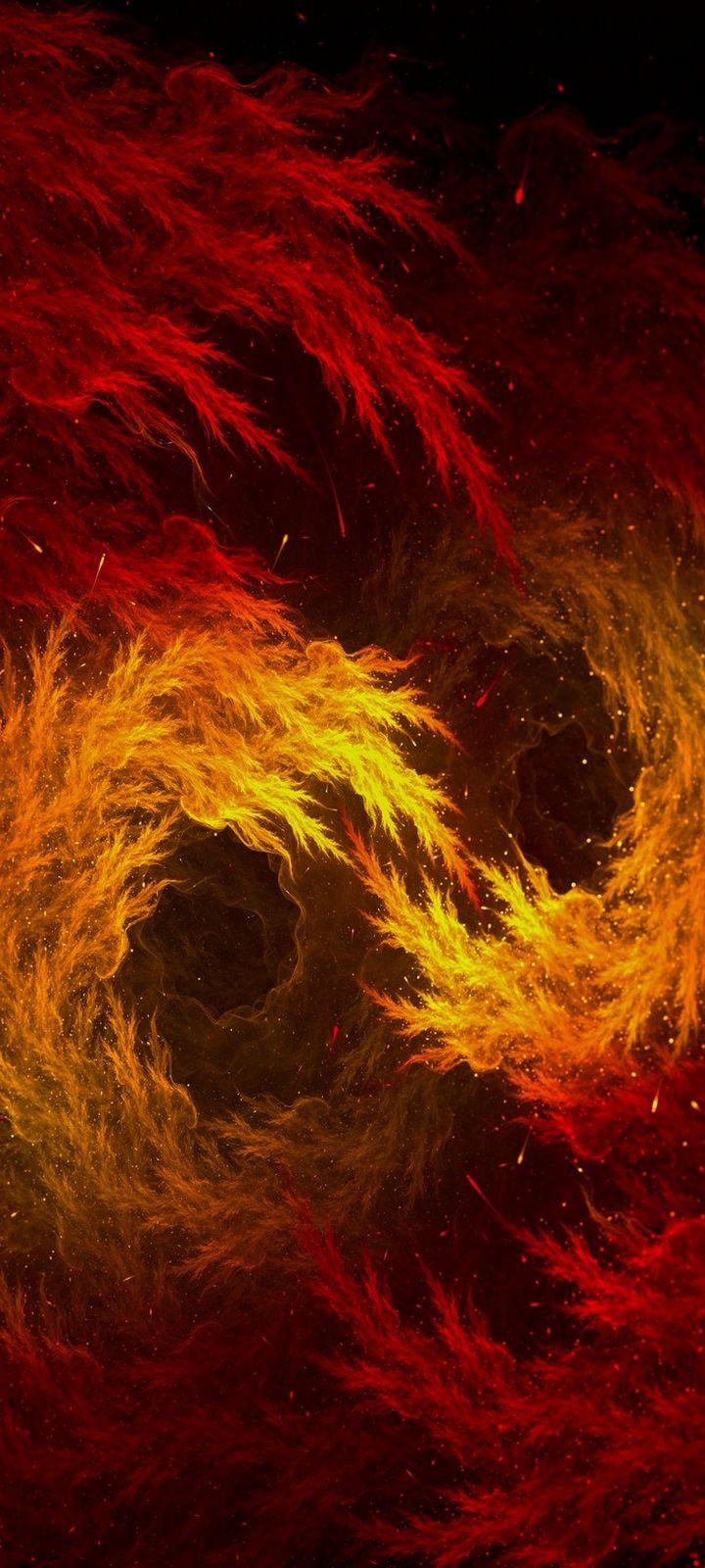 Fractal Flame Sparks Wallpaper 720x1600