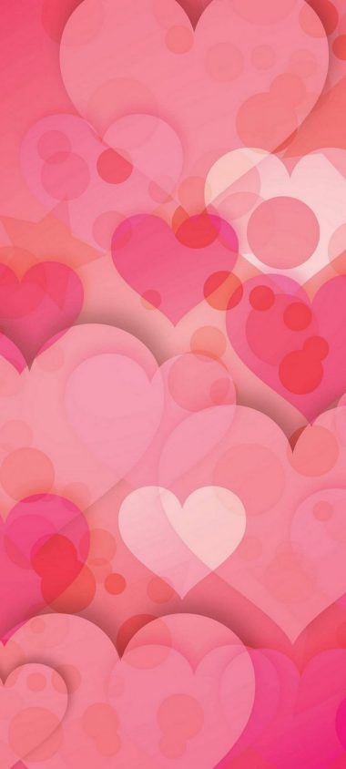 Hearts Love Pinky Wallpaper 720x1600 380x844