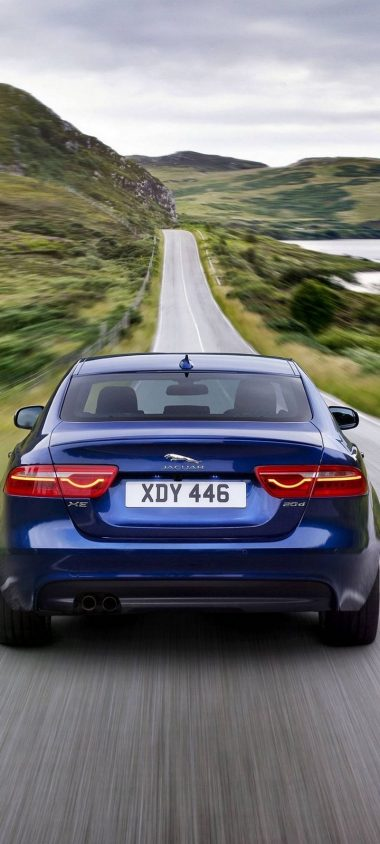 Jaguar XE Car Blur Wallpaper 720x1600 380x844