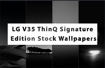 LG V35 ThinQ Signature Edition Stock Wallpapers