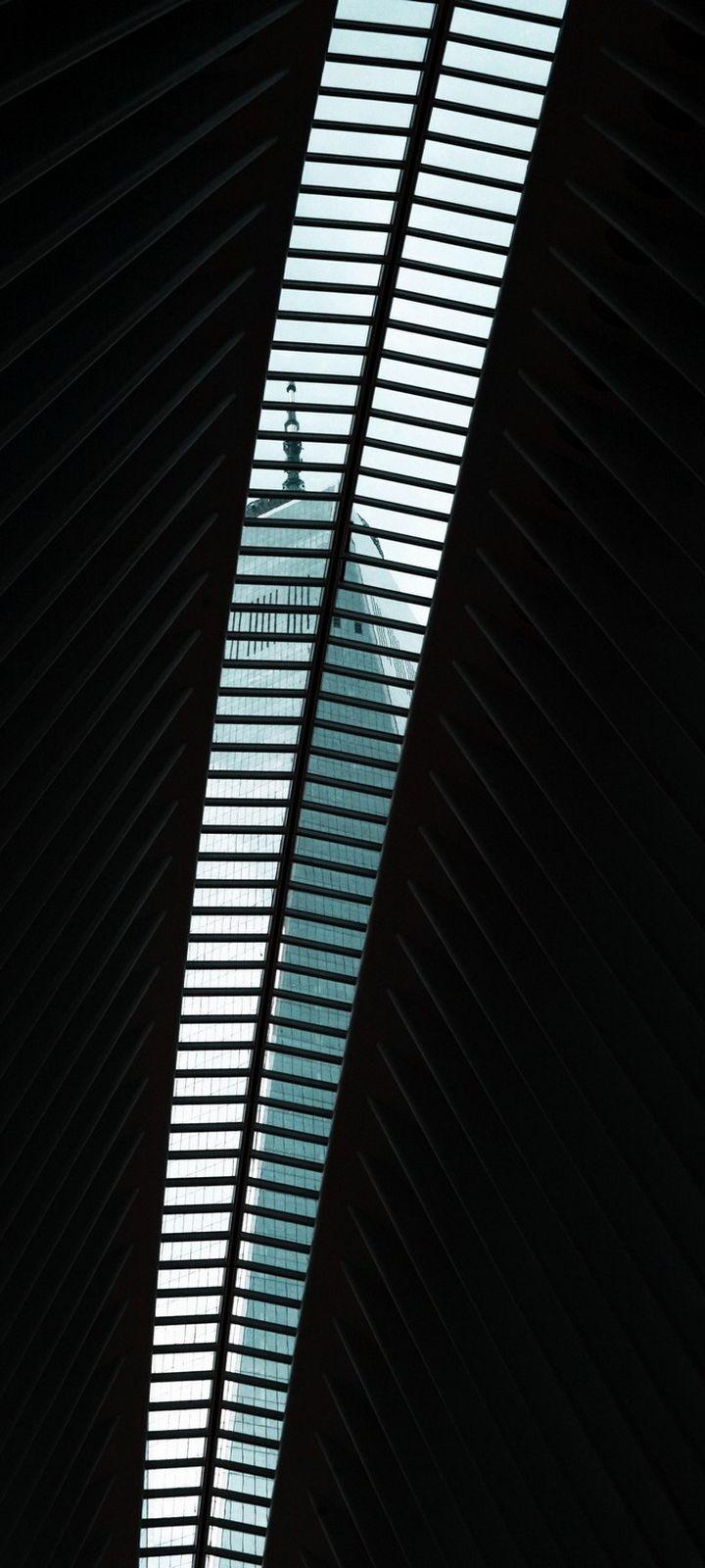 Lattice Ceiling Gap Wallpaper 720x1600