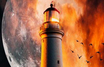 Lighthouse Moon Flame Wallpaper 720x1600 340x220