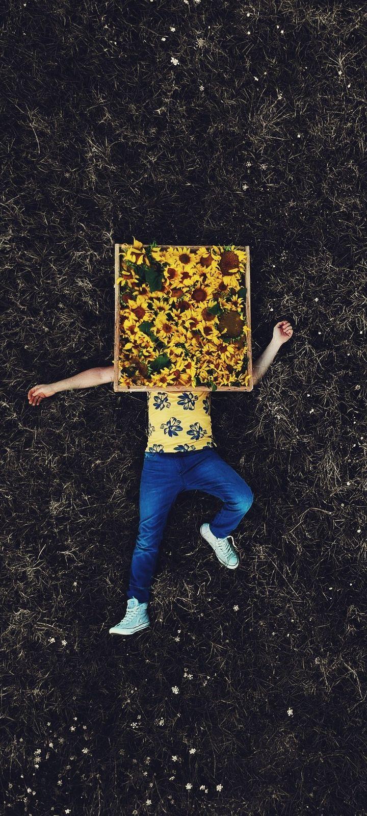 Lonely Field Flowers Wallpaper 720x1600