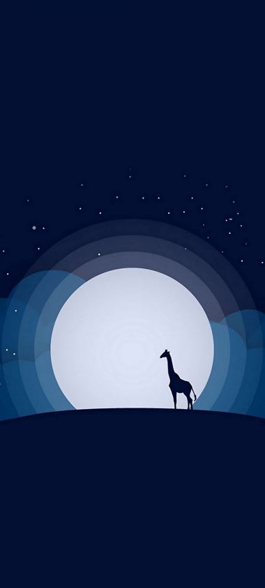 Moon Giraffe Hill Wallpaper 720x1600 380x844