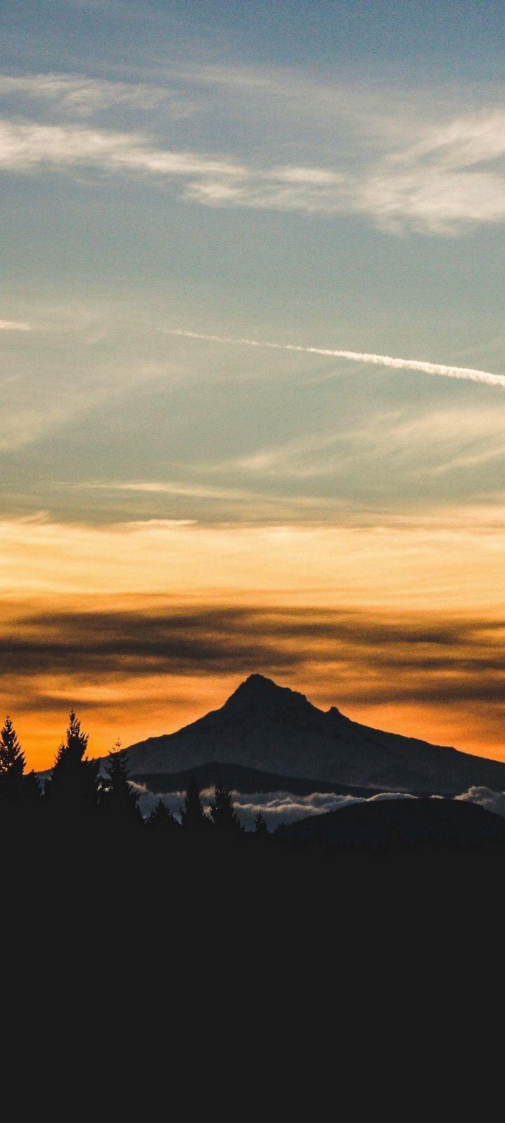 Mountain Sunset Sky Nature Wallpaper - [720x1600]