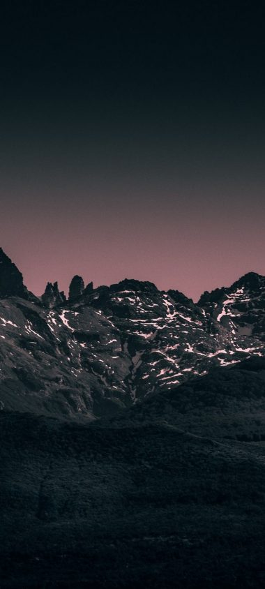 Mountains Landscape Twilight Wallpaper 720x1600 380x844
