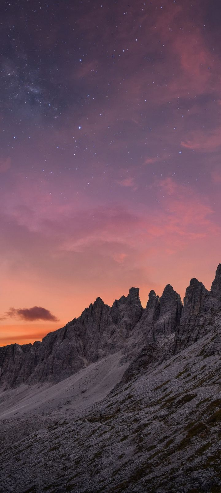 Mountains Mountain Range Landscape Wallpaper 720x1600