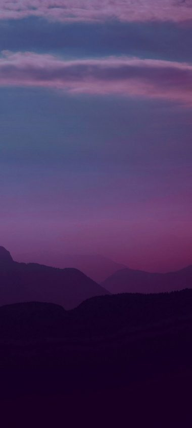 Mountains Twilight Landscape Wallpaper 720x1600 380x844