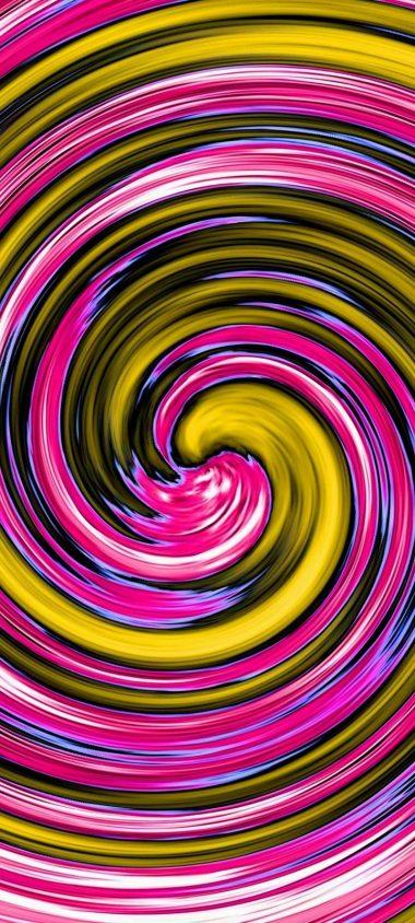 Multi Colored Spiral Wallpaper 720x1600 380x844
