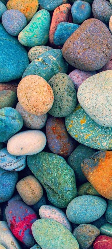 Multicolored Stones Wallpaper 720x1600 380x844